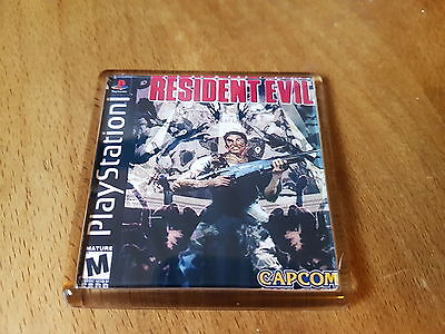 RESIDENT EVIL PLAYSTATION ONE retro gaming psx ps1 fridge MAGNET free post