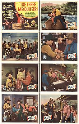 THE THREE MESQUITEERS 1st In Series Complete Set Of 8 Indiv 11x14 Prints 1936