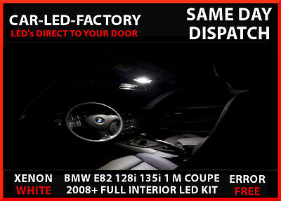 BMW 1 SERIES E82 128i 135i 1 MCOUPE 2008+ LED INTERIOR REPLACEMENT 12 BULB PACK