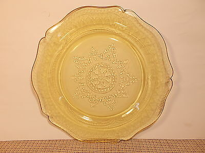 Federal Depression Glass Patrician Amber (Spoke) Dinner Plate 11""