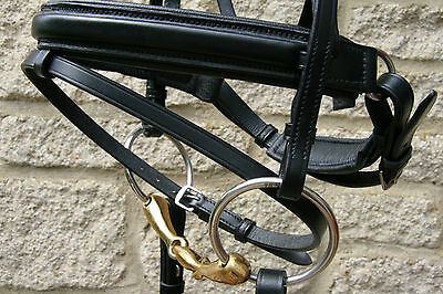 Beautiful Comfort Bridle In Black Leather Crank Noseband With Flash Inc Reins