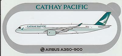New Airbus Sticker CATHAY PACIFIC  AIRBUS A350-900, 06/2016