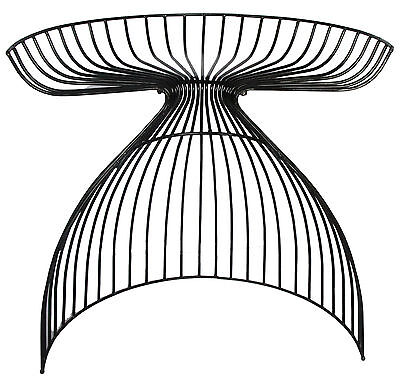 NEW Semi-Crescent Wire Stool with Cushion