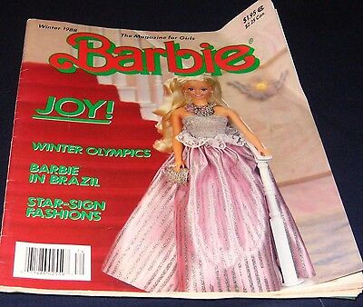 Barbie:the Magazine For Girls -Winter 1988 Includes Star - Sign Fashions Vintage