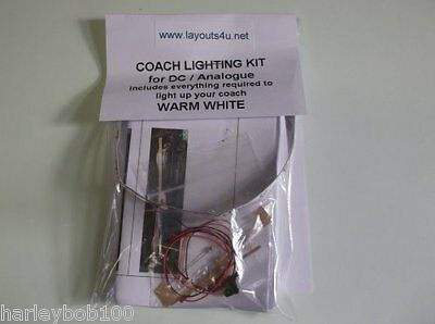 DC/ANALOGUE COACH / CARRIAGE LIGHTING KITS IN WARM WHITE / COOL WHITE or AMBER