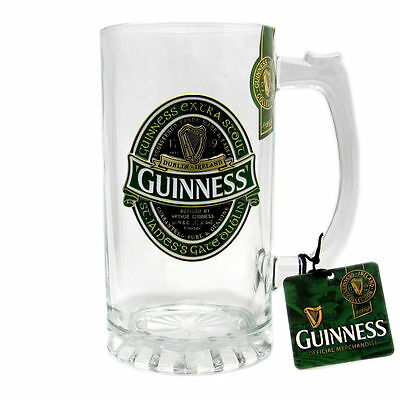 Guinness Ireland Collection - Glass Tankard With Metal Badge