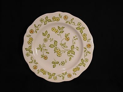 Sears Petite Flora Ironstone  Dinner Plate #4009 Scalloped Edge Size 10.5 inches