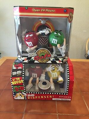 M&M's At The Movies Dispenser & Rock'n Roll Cafe. New Sealed. Free Shipping