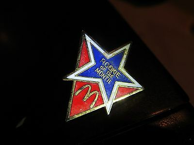 Mcdonalds  Employee Rookie Of The Month  Vintage Lapel Pin