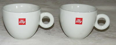 "Illy TWO 2.3/4"" White ipa Coffee Cups"
