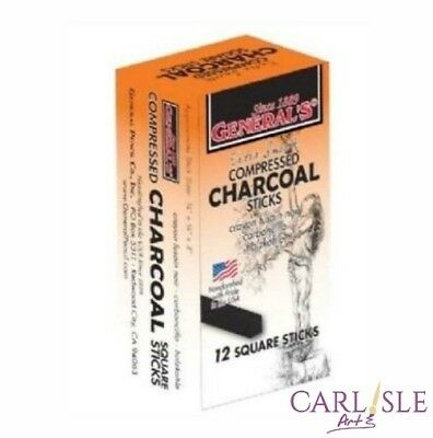 General's - Compressed Charcoal Sticks - Box Of 12 Hard 2B