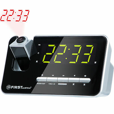 Radiowecker mit Projektor LED Display 10x4cm 2 Wecker, Radio Quarzstabilisator