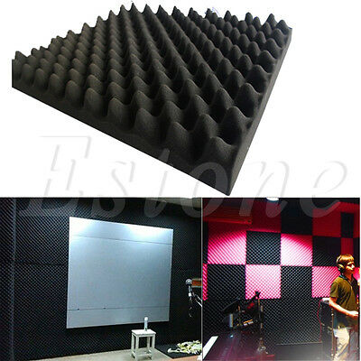 Acoustic Sound Stop Absorption Pyramid Studio Soundproof Foam Sponge 50x50x3cm