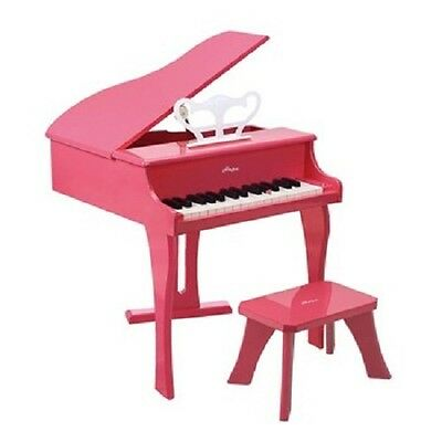 Hape Happy Pink Grand Childrens Wooden Toy Musical Piano Play Music 30 Keys