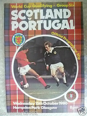 1980 World Cup Qualifying Match SCOTLAND v PORTUGAL, 15 Oct