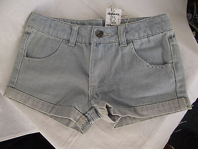 BNWT Girls Sz 8 Rivers Doghouse Brand Super Cute Pale Blue Wash Denim Shorts