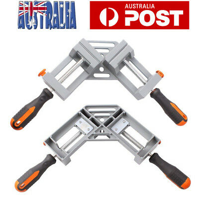 2X 90° Cast Corner Clamp One Handle Picture Frame Woodworking Welding Vice