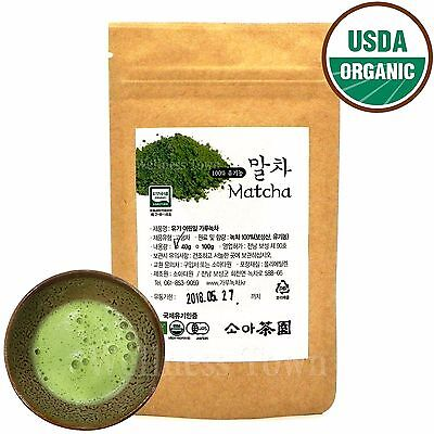 100% Pure Organic Tender leaf Green Tea Powder 40g, Matcha Ceremonial Grade