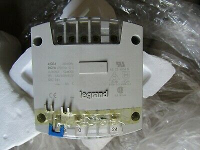 Legrand Transformer 160Va Pri 230/400Vac Sec 24Vdc 50/60Hz, 423 04  42304, New