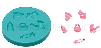 Sweetly Does It Baby Silicone Fondant Icing Mould By Kitchen Craft