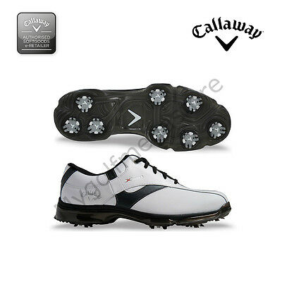 Callaway X NItro Mens Golf Shoes - NEW - Leather uppers and waterproof med fit