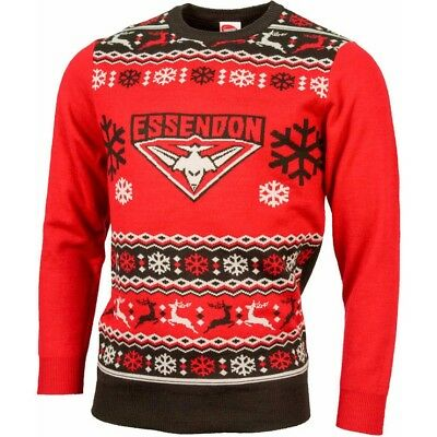 Essendon Bombers AFL Footy Mens Ugly Sweater