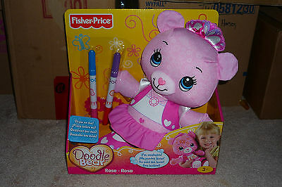 NEW 2010 Fisher-Price Doodle Bear Rose MISP