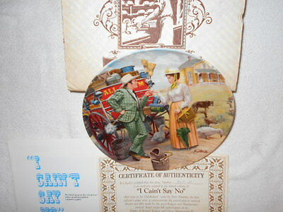NEW Knowles Knowles I CAN'T SAY NO Collector Plate with certificate # 9019 B