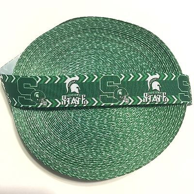 "7/8"" Michigan State Logo Chevron Grosgrain Ribbon by the Yard (USA SELLER!)"