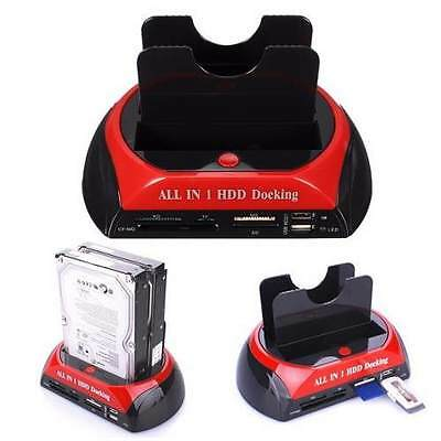 """Docking Station All In 1 Hard Disk Sata Ide 3,5"""" 2,5 Lettore Hdd Box Case Oli"""