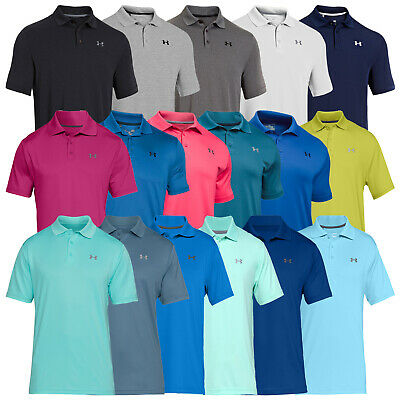 Under Armour Mens HeatGear Performance 2.0 Polo Shirt - UA Golf Tech Top 2018