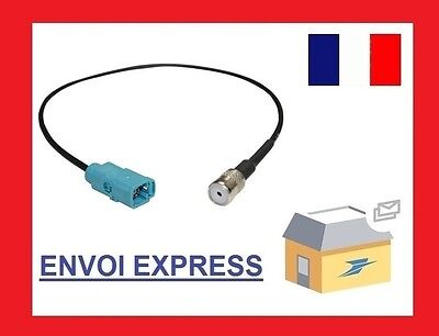 Cable FAKRA femelle vers ISO Seat Mercedes Benz Skoda VW