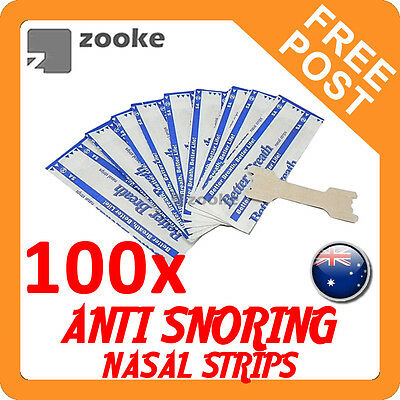 100x Anti Snore Nasal Strips to help Breathe Right Breathe Better Stop Snoring