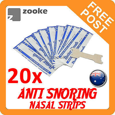 20x Anti Snore Nasal Strips to help Breathe Right Breathe Better Stop Snoring