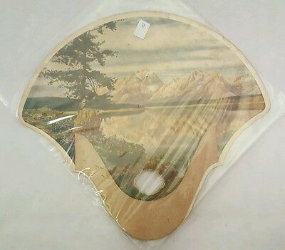 Vintage Collectible Antique Paper Hand Mountain ADVERTISING FAN BALTIMORE MD