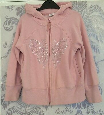 Girls Next Pink Butterfly Hoodie In Age 6 Years Old