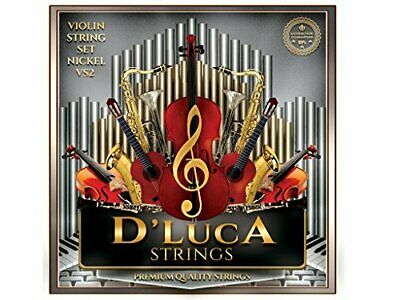 D'Luca Stainless Steel Core Flat Nickel Wound, Ball End Violin String Set 4/4