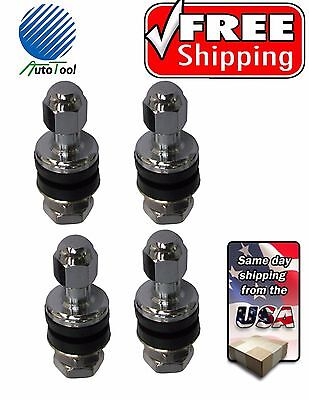 Tire Valve Stems Enkei Chrome Metal Bolt In TR1-860 / VS8 set of 4.