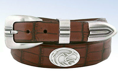Zep-Pro NCAA Southern Mississippi GOLDEN EAGLES Brown Leather Concho Belt - 32