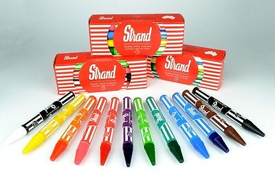 Strand Large Educational Crayon packet 12 Australian made and owned