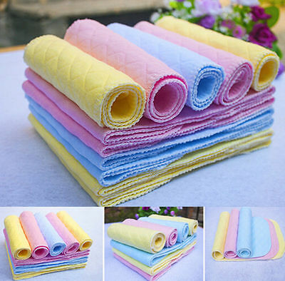 5PCS Reusable Baby Modern Cloth Diaper Nappy Liners insert 3 Layers Cotton