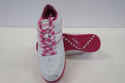 "New Womens Niblick ""clare"" Golf Shoes In White/pink, Size Us 8"