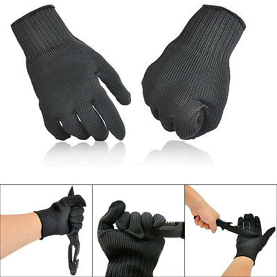 1 Pair Cut Metal Mesh Butcher Anti-cutting Breathable Work Safe Gloves Protector