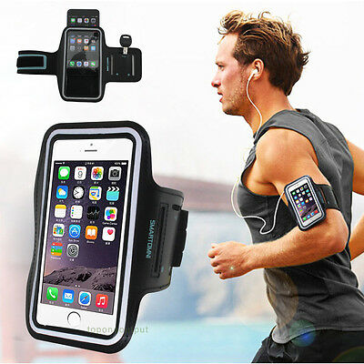 5.5'' Cell Phone Sports Gym Armband Jogging Case Cover For iPhone 6 Plus 6S Plus