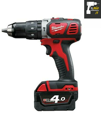 Milwaukee M18 BPD 402C Trapano Avvitatore Percussione 2 Batterie  Litio 4Ah