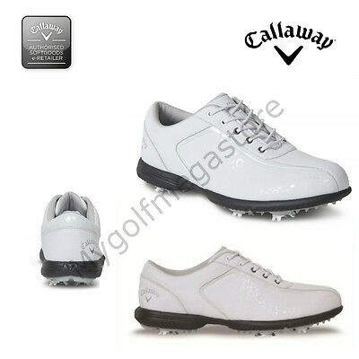 "Callaway Golf Womens / Ladies Halo Pro Sky Series Golf Shoes  White/Silver ""New"""