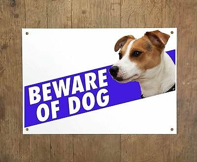 JACK RUSSELL 8 Beware of dog sign metal