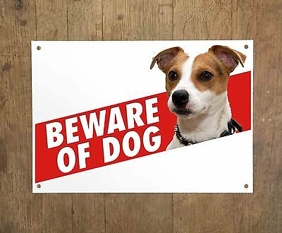JACK RUSSELL 9 Beware of dog sign metal