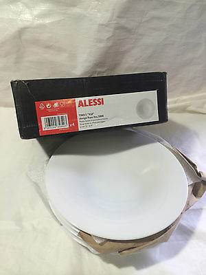 ALESSI KU Porcelain Serving Soup Bowls White Dining Tableware Set of 3 - 23cm