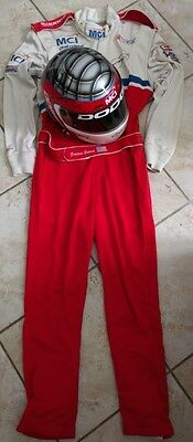 Lot : Original  Helmet  / suit race  used : Dominic Dobson Nascar Signed
